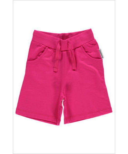 Maxomorra plain cerise shorts - regular length