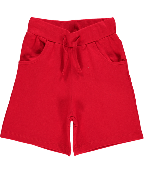 Maxomorra plain red shorts - regular length