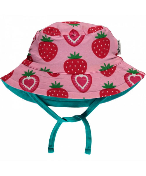 Maxomorra Strawberry Sun Hat with Cord