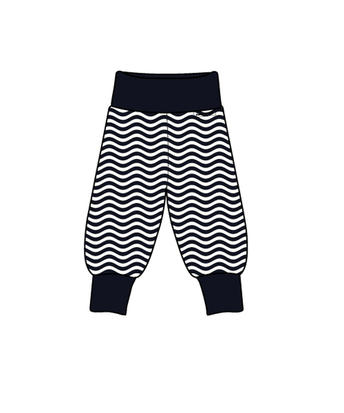Maxomorra Waves rib pants