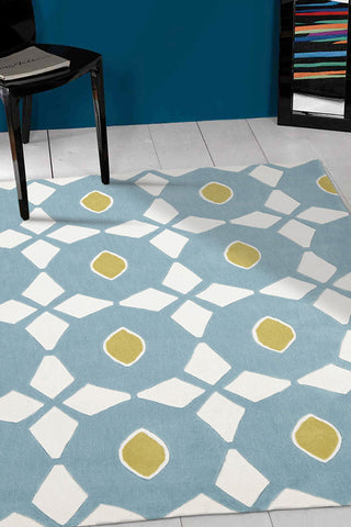Blue and Yellow Nest Rug