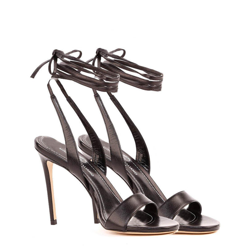 Sandali in pelle color nero | Women