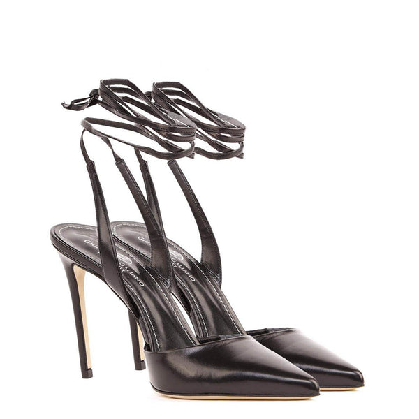 Slingback in pelle nera | Women