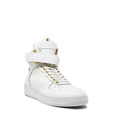 Rockstar High White | Cuero negro