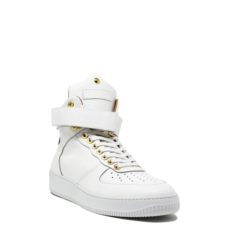 Rockstar High White | Black Leather