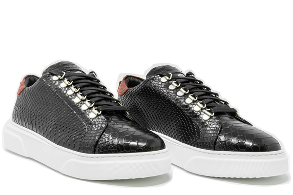 V.I.P. VII Low Black | Red Python | Woman