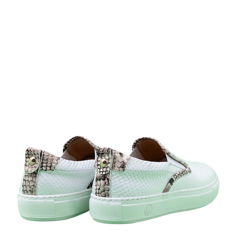 Slip-on White | Grey | Python Women
