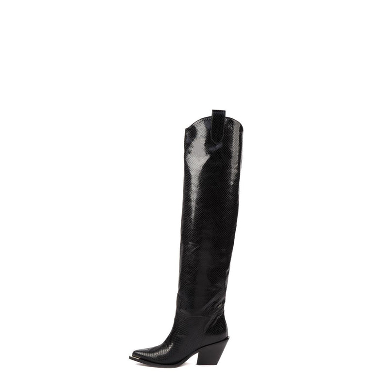 Texas High Heels Black Python
