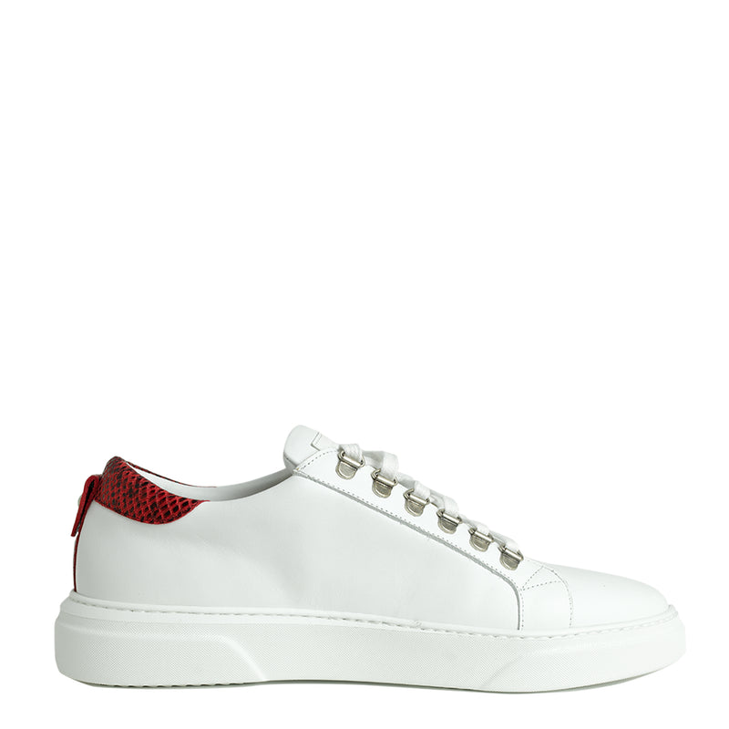 V.I.P. VII Low White | Red & Grey