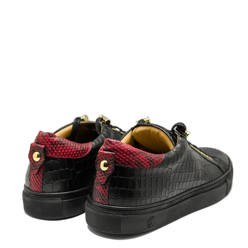 No Limits Low Black | Red | Croc