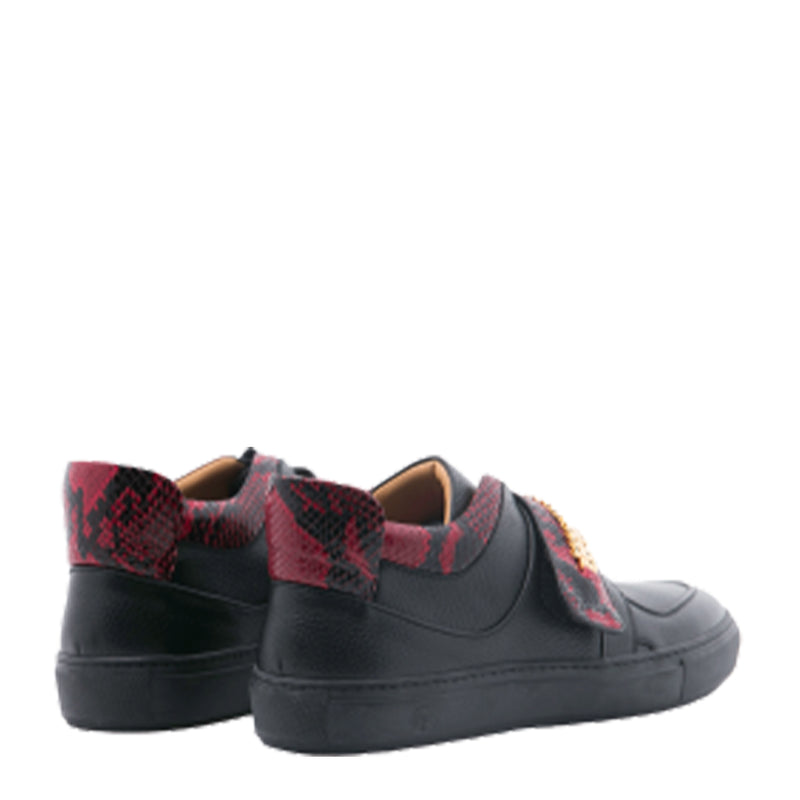 President Low Black | Red | Leather