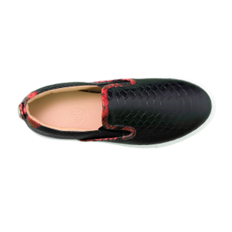 Slip-on  Black | Black | Python Women