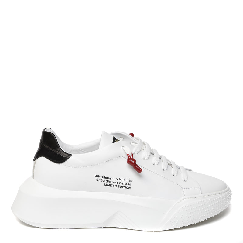 Nemesis White | Black Leather