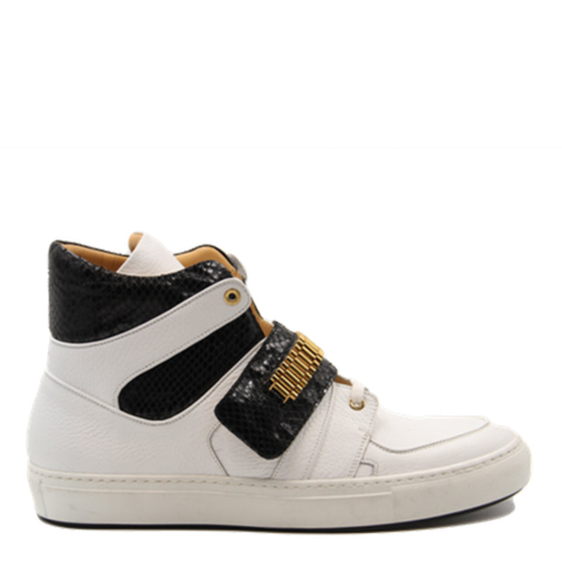 Capri White | Black | leather