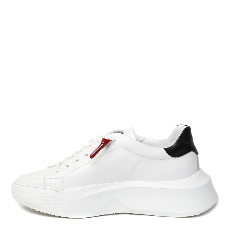 Cobra White | Black Leather