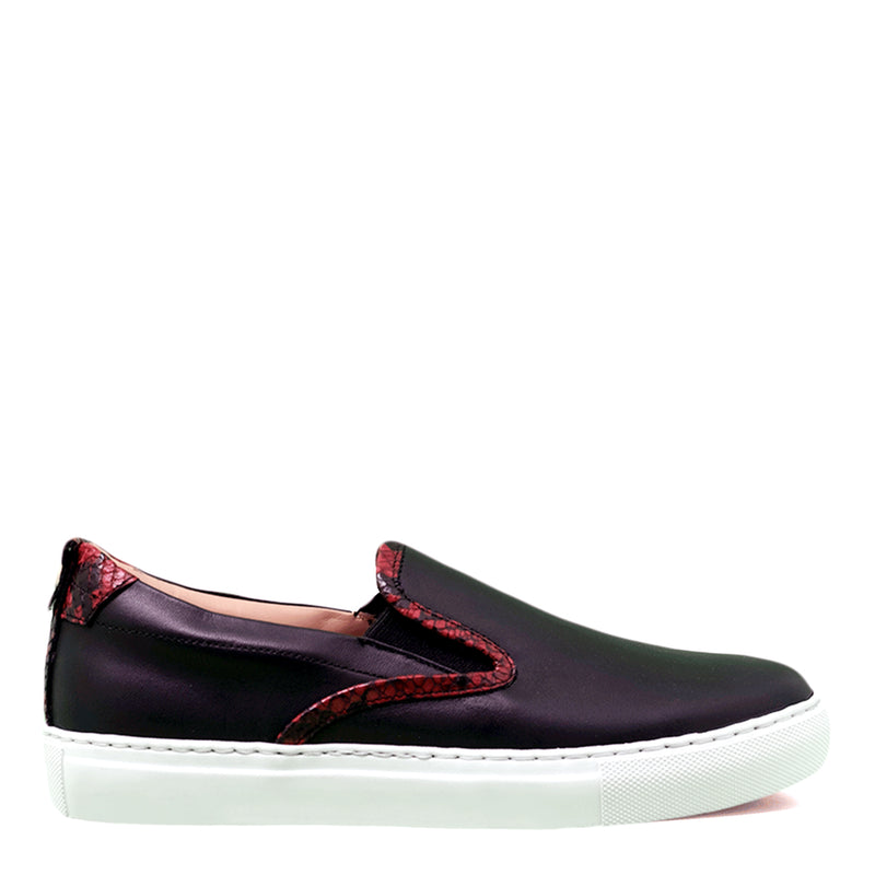 Slip-on Black | White | Python Woman