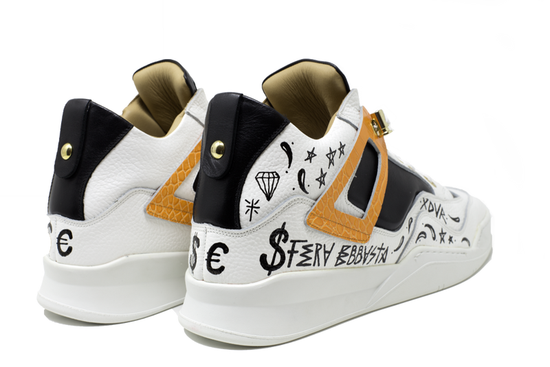Power White x Sfera Ebbasta | Orange | Ostrich Leather
