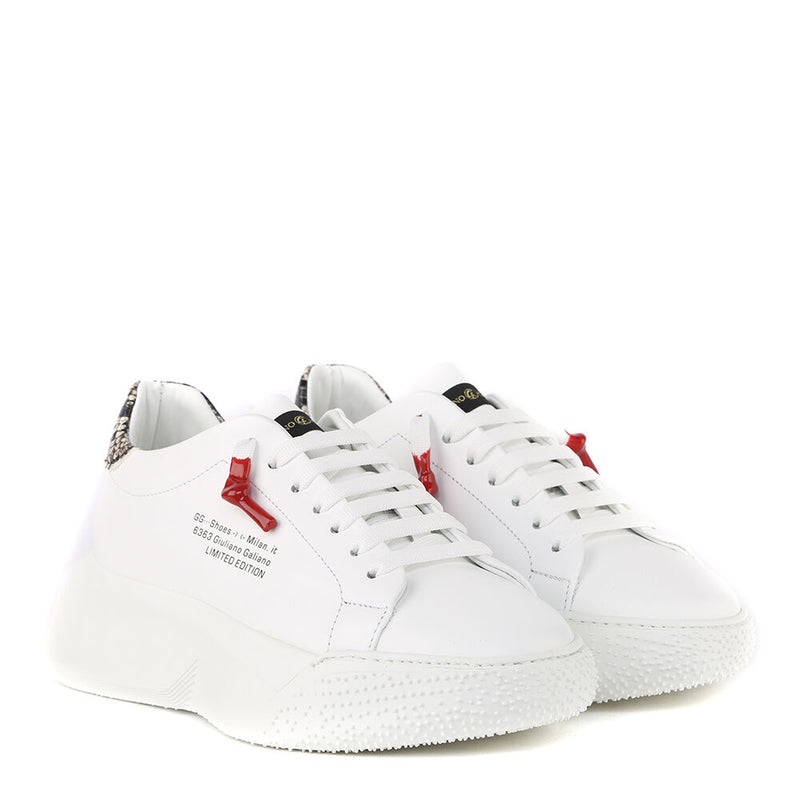 Nemesis White | Grey Leather | Woman