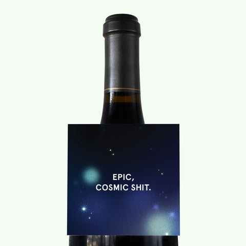 Bonnefetti Wine Tag Space Blue - Epic Cosmic Shit