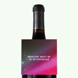 Bonnefetti Wine Tag Space Pink – Mercury Must Be In Retrograde