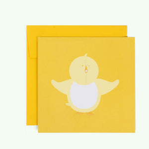 Bonnefetti Greeting Card Baby Yellow Chick