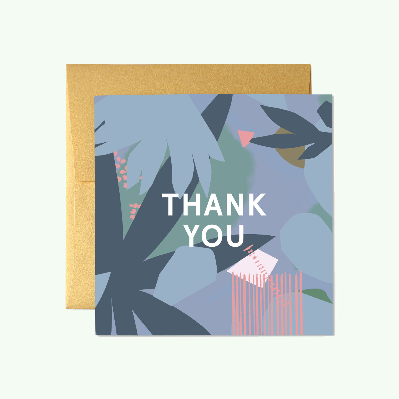 Bonnefetti Beautiful Mini Thank You Cards – Blue Floral
