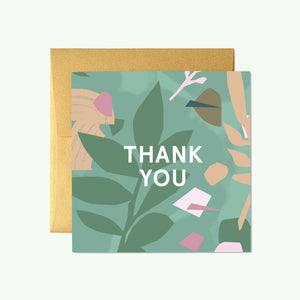 Bonnefetti Beautiful Mini Thank You Cards – Green Floral
