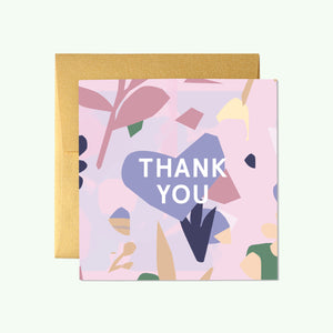 Bonnefetti Beautiful Mini Thank You Cards – Pink Floral