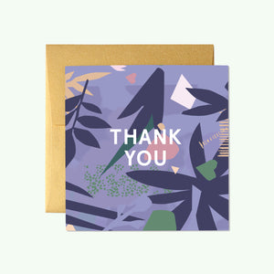 Bonnefetti Beautiful Mini Thank You Cards – Purple Floral