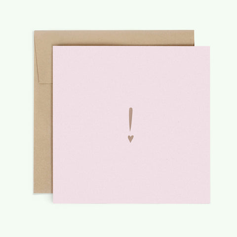 Bonnefetti Have Heart Pink Greeting Card with Metallic Foil Stamp