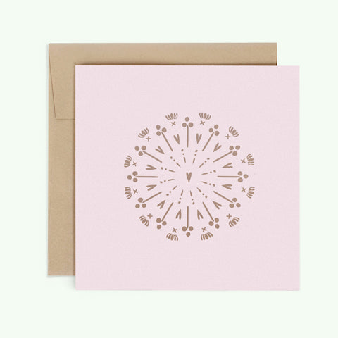 Bonnefetti Have Heart Pink Greeting Card with Metallic Foil Stamp Heart of Gold