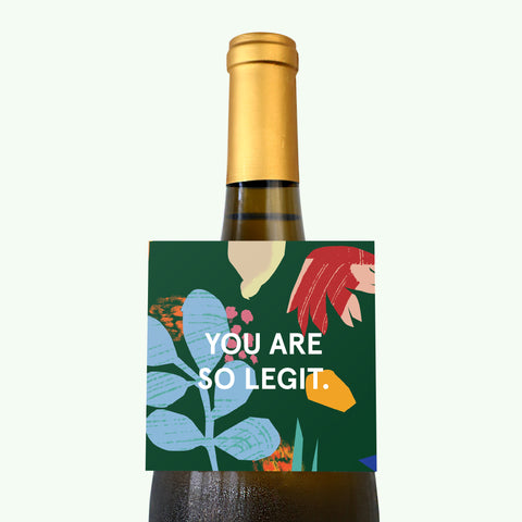 Bonnefetti Wine Tag Green – You Are My Hero