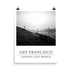 Print of the Golden Gate Bridge (B&W)