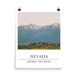 Print of Sierra Nevadas