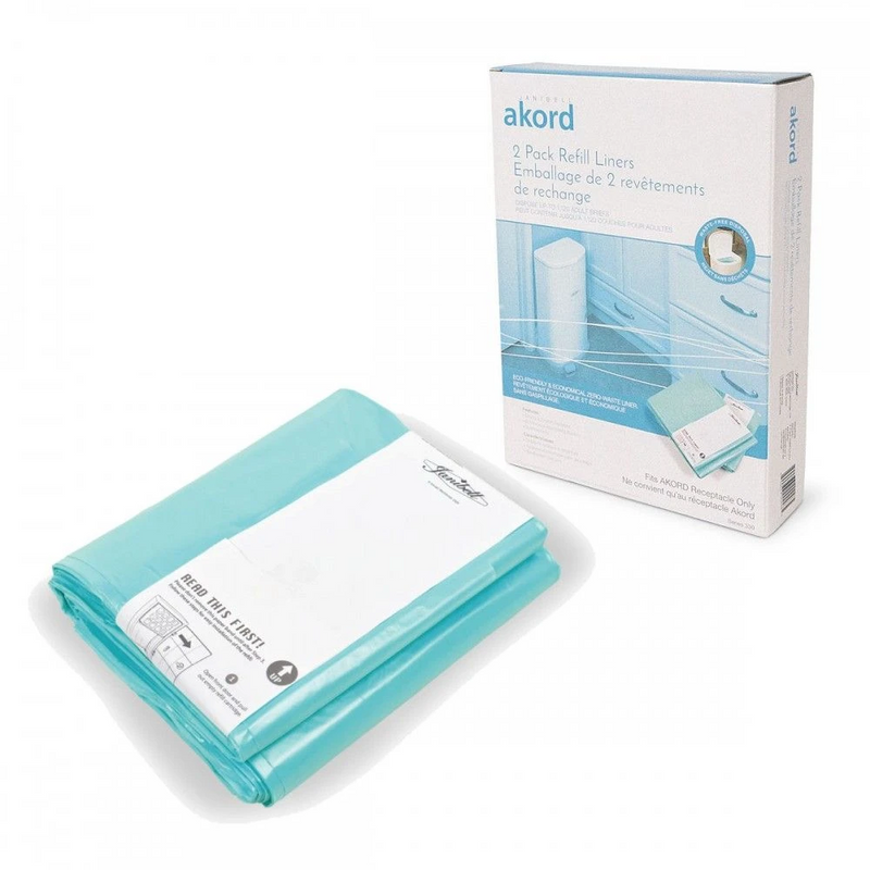 Refill Liners (2 pack) for the Akord Maxi Bin 41 litre<br> Nappy Bin