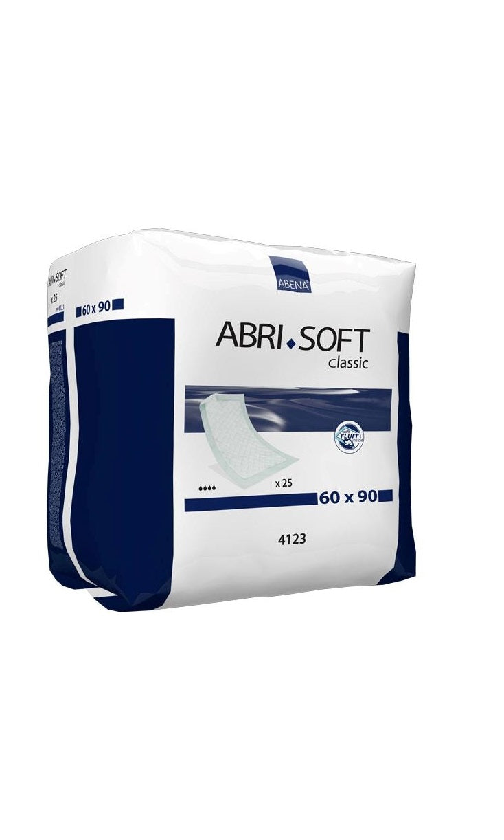 Abena Abri-Soft Classic Underlay | Disposable Bed Protection | 2100ml capacity | 60x90cm | 25 un.