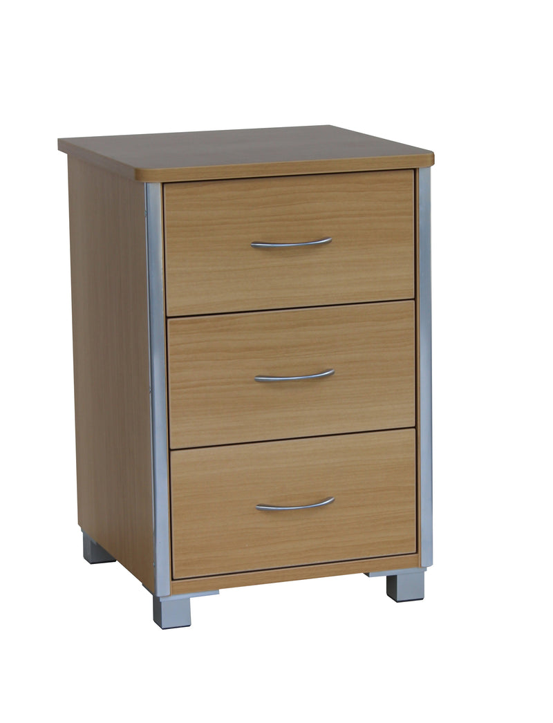 Beaumont 3 Drawer Bedside