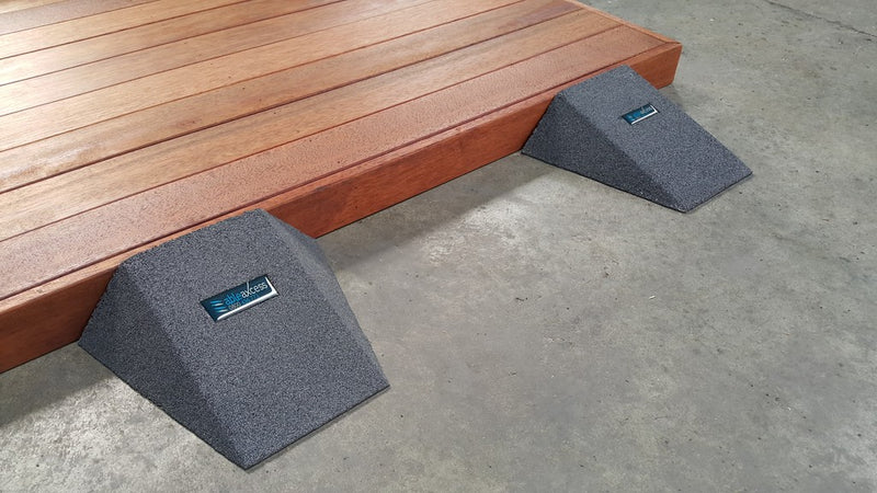 Pair of Easy Access Ramps <br> 100mm H x 250mm L x 400mm W