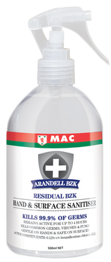 Hand & Surface Sanitiser 500ml | Arandell | Sanitising Products | Alcohol-Free | Radius Shop NZ