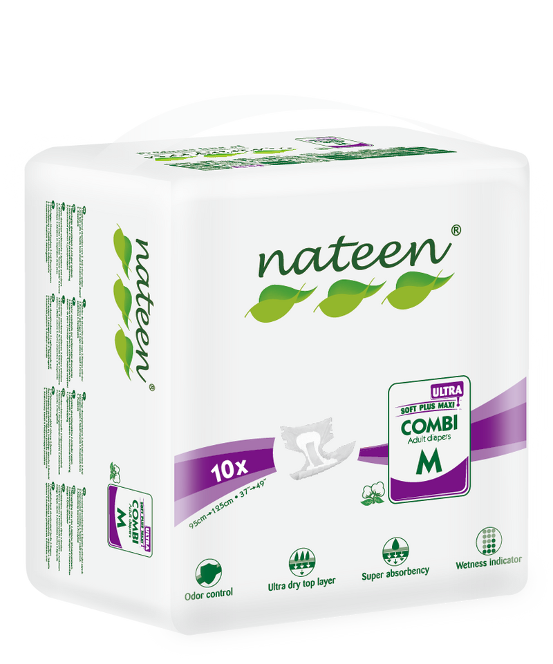 Nateen Combi Ultra Briefs All-in-One | 5100ml capacity | Size: Medium