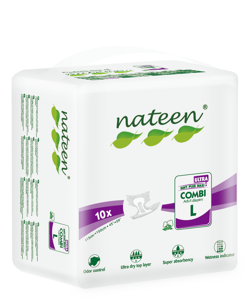 Nateen Combi Ultra Briefs All-in-One | 5500ml capacity | Size: Large