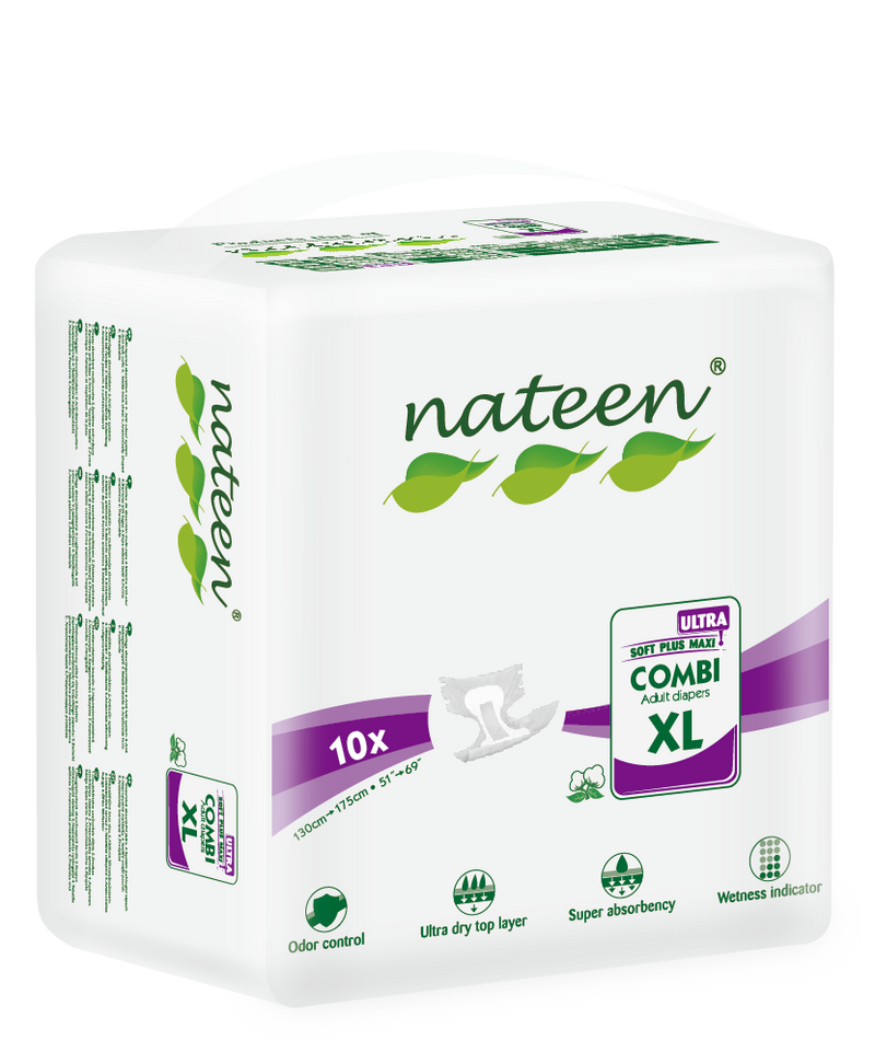 Nateen Combi Ultra Briefs All-in-One | 5800ml capacity | Size: XLarge