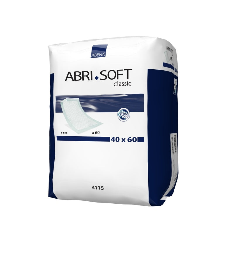 Abena Abri-Soft Classic Underlay | Disposable Bed Protection | 900ml capacity | 40x60cm | 60un.