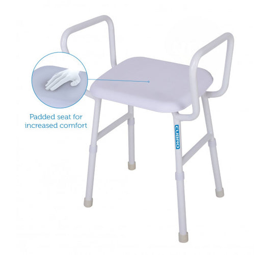 Shower Stool with Arms and Padded Seat | VIKING | Toilet & Bathroom | Household & Daily Living | NZ | Radius Shop
