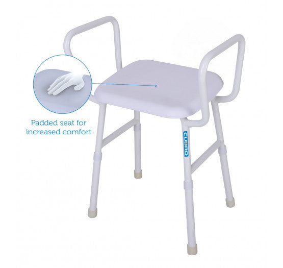 Viking Maxi Shower Stool with Arms and Padded Seat