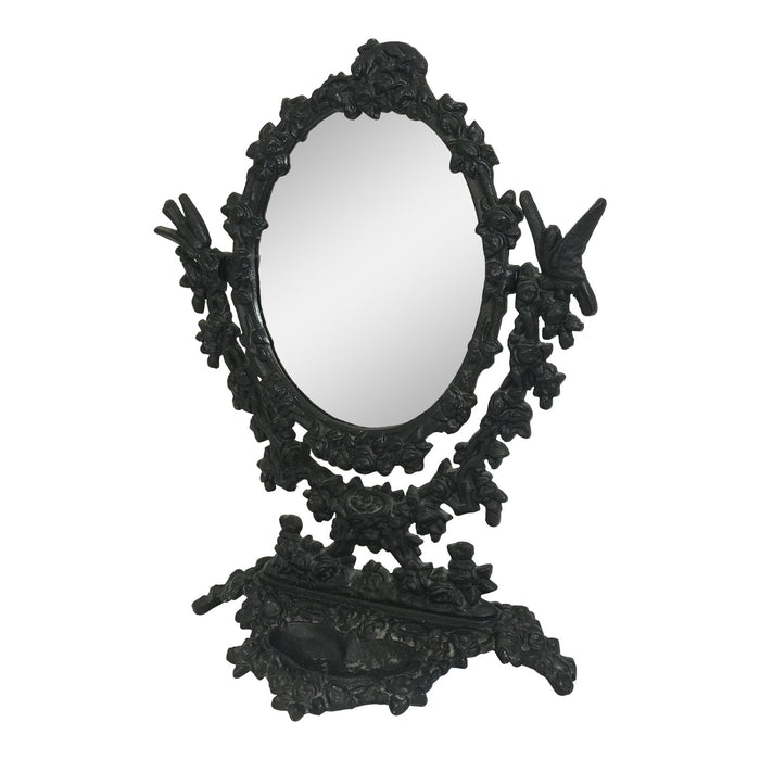 Black Metal Dressing Mirror from 1930's