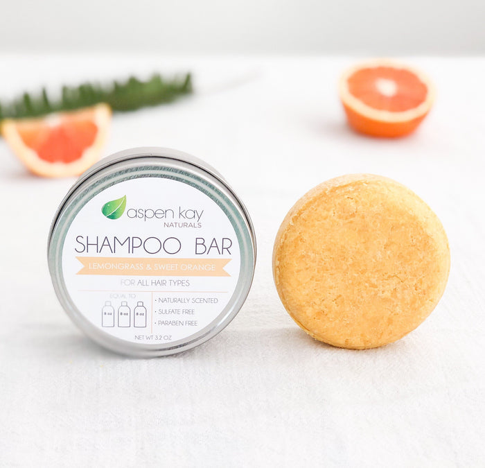 Shampoo Bar Lemongrass & Orange by Aspen Kay