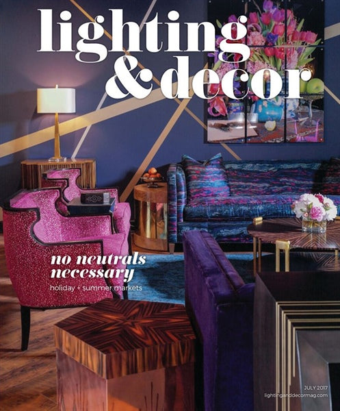 As seen on the cover of Lighting & Decor magazine's July 2017 issue, the Ramos Fizz Side Table is a stunning take on the Art Deco movement. With hand-perforated, solid brass or copper body and pentagonal hat-box form top and base, this piece makes for a unique side or accent table.