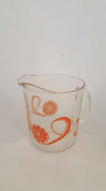 Glass Fruit Pitcher
