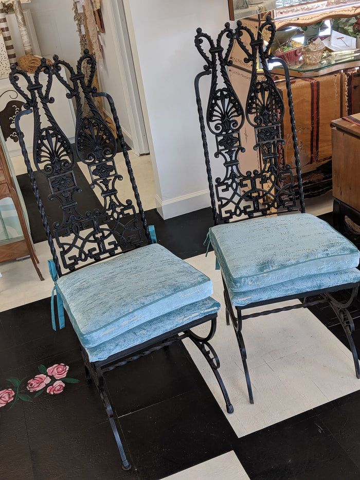 Pair of Vintage Modecraft Iron Chairs